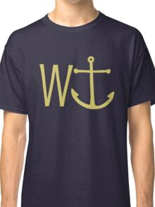 cream W anchor Classic T-Shirt