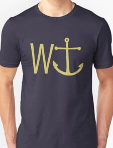 cream W anchor T-Shirt