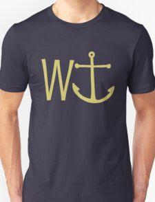 cream W anchor T-Shirt
