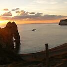 Durdle Door and Beach Sunset by qshaq