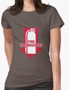 Fire Extinguisher  Womens Fitted T-Shirt