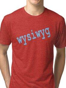 whyiwyg (what you see is what you get!) Tri-blend T-Shirt
