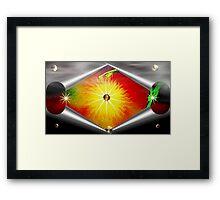 Green Serpent Of The Fire World Framed Print