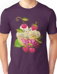 Tutti Frutti Cupcake Unisex T-Shirt
