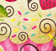 Tutti Frutti Cupcake Sticker
