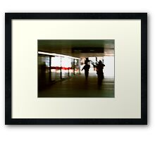 OUT OF THE UNDERGROUND MORNING  Framed Print
