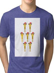 African Xmas - giraffe Tri-blend T-Shirt