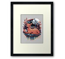 The Red Deer Framed Print