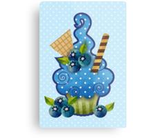 Blueberry Cupcake Metal Print