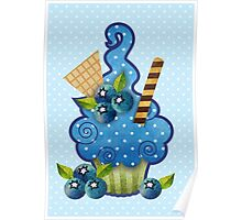 Blueberry Cupcake Poster