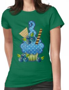 Blueberry Cupcake Womens Fitted T-Shirt