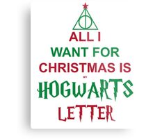 All I want for Christmas is my Hogwarts letter Metal Print