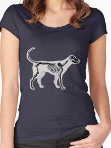 DOG ANATOMY X-RAY Women's Fitted Scoop T-Shirt