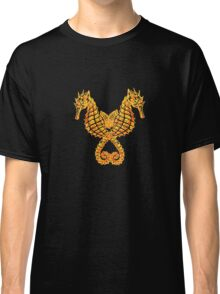 Sea Horses Tribal Tattoo Classic T-Shirt