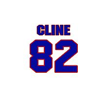 National football player Tony Cline jersey 82 Photographic Print
