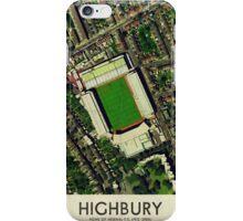 Vintage Football Grounds - Highbury (Arsenal FC) iPhone Case/Skin