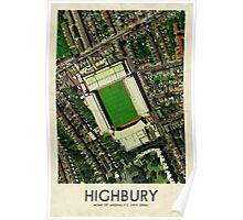Vintage Football Grounds - Highbury (Arsenal FC) Poster