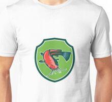 Catfish Mud Cat Black Bullhead Shield Retro Unisex T-Shirt