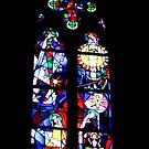 Chagall's window, Mainz by Elaine Stevenson