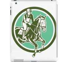 Equestrian Show Jumping Circle Retro iPad Case/Skin