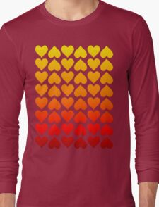Cascading Hearts Long Sleeve T-Shirt