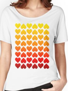 Cascading Hearts Women's Relaxed Fit T-Shirt
