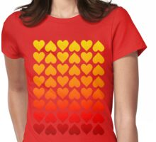 Cascading Hearts Womens Fitted T-Shirt