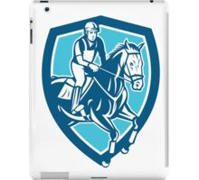 Equestrian Show Jumping Shield Retro iPad Case/Skin