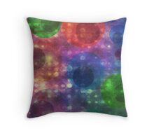 Colorful and Vibrant Abstract Circle Pattern Throw Pillow