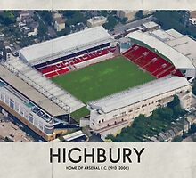 Vintage Football Grounds - Highbury (Arsenal FC) by twelfthman
