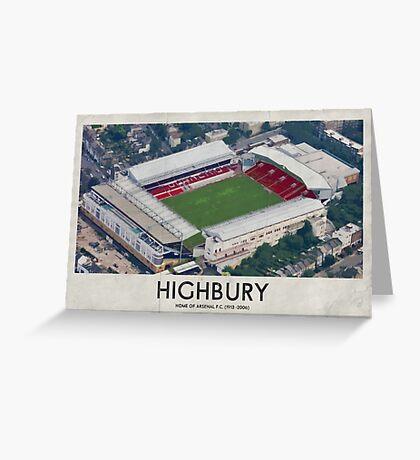 Vintage Football Grounds - Highbury (Arsenal FC) Greeting Card