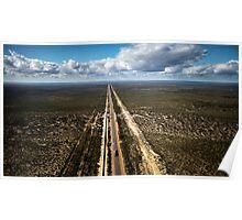Goldfields water supply - Mundaring to Kalgoorlie pipeline (photo Dave Carter) Poster
