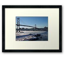 Halifax Bridge Span when it's cold outside Framed Print