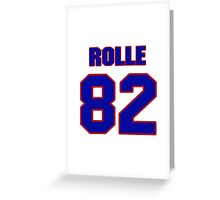 National football player Butch Rolle jersey 82 Greeting Card