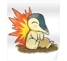 Pokemon Cute Cyndaquil Poster