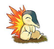 Pokemon Cute Cyndaquil Photographic Print