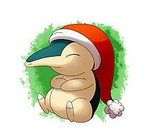 Pokemon Christmas Santa Cyndaquil Photographic Print