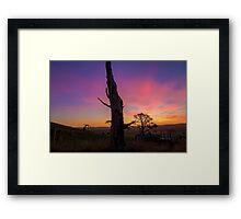 Flowerdale Sunset Framed Print