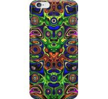 Faces In Abstract Shapes 4 iPhone Case/Skin