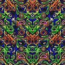 Faces In Abstract Shapes 4 by Phil Perkins