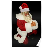 SANTA PRAYING FESTIVE PICTURE AND OR CARDS PRINTS ECT Poster