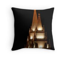 Salt Lake Temple - East Spires Throw Pillow