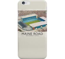 Vintage Football Grounds - Maine Road (Manchester City FC) iPhone Case/Skin