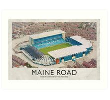 Vintage Football Grounds - Maine Road (Manchester City FC) Art Print