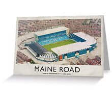 Vintage Football Grounds - Maine Road (Manchester City FC) Greeting Card