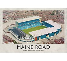 Vintage Football Grounds - Maine Road (Manchester City FC) Photographic Print