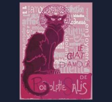 Le Chat D'Amour In Pink With Words of Love Kids Clothes