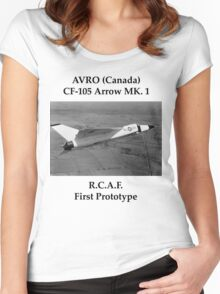 AVRO Arrow - Rare Aircraft / Airplane Photograph Women's Fitted Scoop T-Shirt