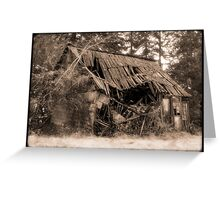Shambles (sepia) Greeting Card