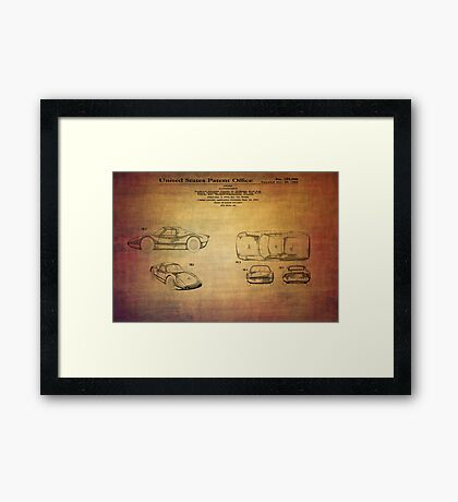 Ats Gt Porshe Patent From 1963 Framed Print